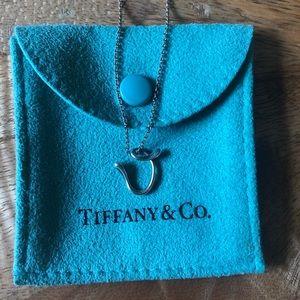 "Tiffany & Co. Letter ""V"" necklace"